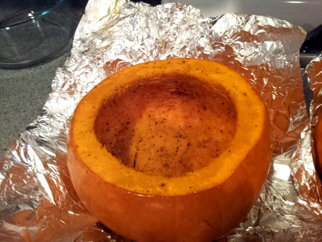 Chicken Potpie in a Pumpkin (3/3)