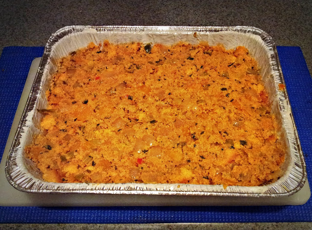 Chorizo, Squash, and Jalapeno Corn-Bread Stuffing (3/4)