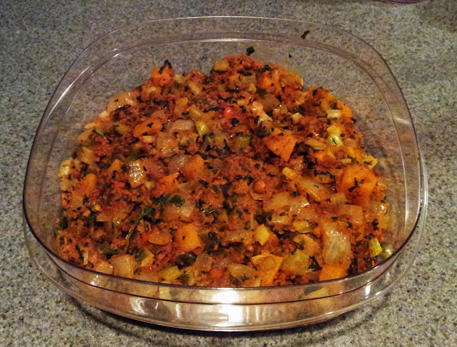 Chorizo, Squash, and Jalapeno Corn-Bread Stuffing (2/4)
