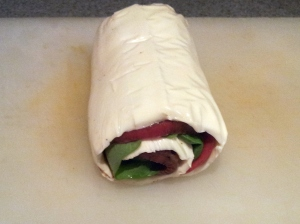 Here is our roll before we sliced it.