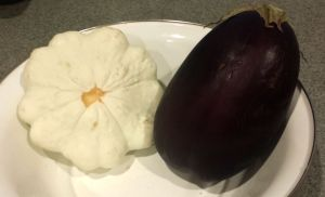 Squash and Eggplant in bowl