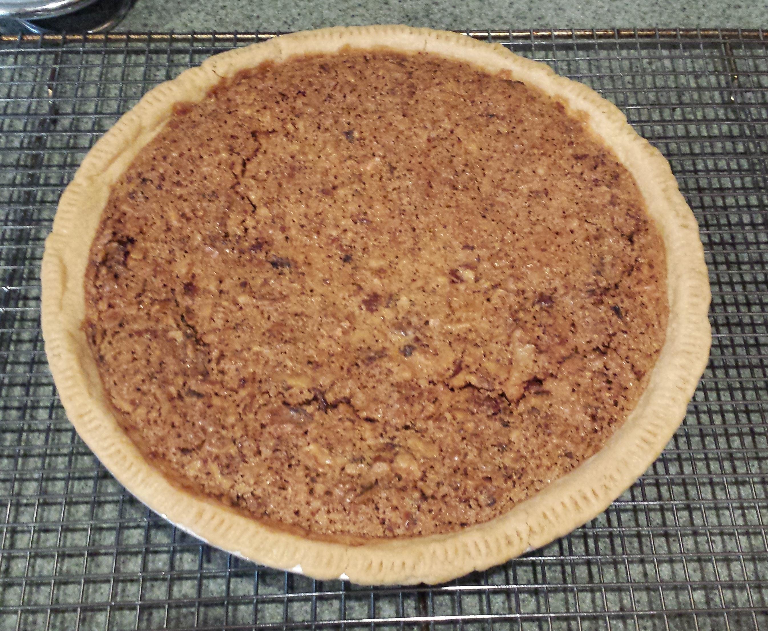 Bacon-Maple-Bourbon Walnut Pie