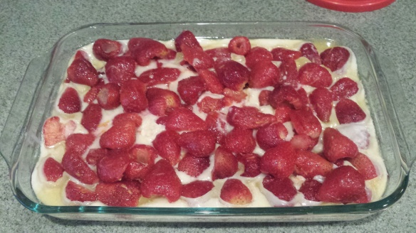 Strawberries-added-to-butter-and-batter