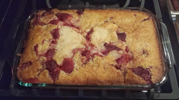 Strawberry-cobbler